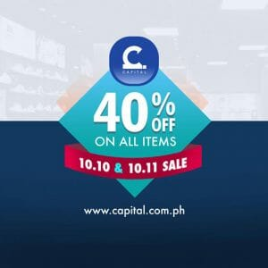 Capital PH - 10.10 Sale: 40% Off on All Items