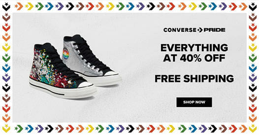 Converse - Everything at 40% Off + FREE Shipping