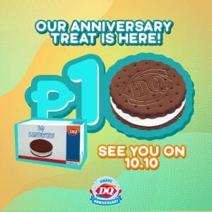 Dairy Queen - 10.10 Deal: ₱10 for a Box of DQ Sandwich