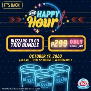 Dairy Queen - Get 3 Large Blizzard To-Go for ₱299
