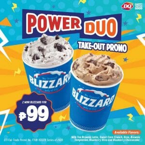 Dairy Queen - Get 2 Mini Blizzard for ₱99