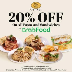Figaro - Get 20% Off on Pasta and Sandwiches via GrabFood