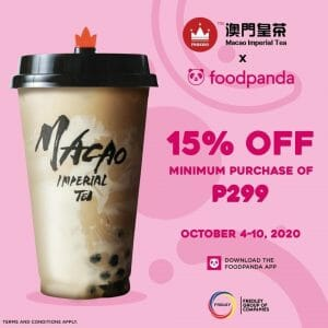 Macao Imperial Tea - Get 15% Off When You Order via FoodPanda