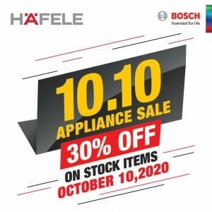 Hafele - 10.10 Sale: Get 30% Off on Stock Items