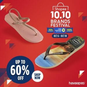 Havaianas - 10.10 Sale: Up to 60% Off + FREE Shipping