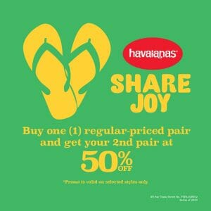 Havaianas - Buy 1, Get the 2nd Pair at 50% Off