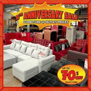 Home Factory Outlets - 5th Anniversary Sale: Up to 70% Off on Selected Items