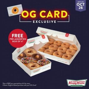 Krispy Kreme - FREE Pre-Assorted Half Dozen When You Buy a Dozen Original Glazed Doughnuts