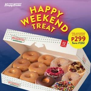 Krispy Kreme - Happy Weekend Treat: Pre-Assorted Mixed Dozen for ₱299 (Save ₱126)