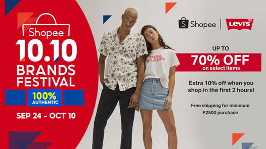 Levi's - 10.10 Sale: Up to 70% Off on Select Items