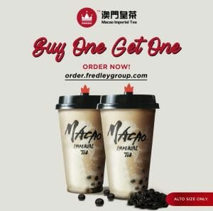 Macao IMperial Tea - Buy 1, Get 1 Cheesecake and Pearl Milk Tea, Online Orders Only