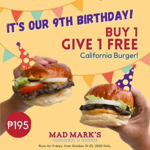Mad Mark's Creamery and Coffee - Buy 1, Give 1 California Burger