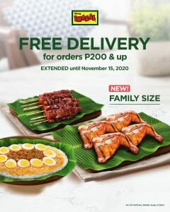 Mang Inasal - FREE Delivery for Orders ₱200 and Up