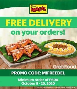 Mang Inasal - FREE Delivery on Orders via GrabFood