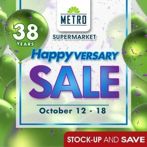 The Metro Supermarket - Happyversary Sale: Big Deals and Discounts