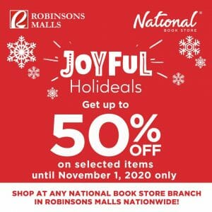 National Book Store - Joyful Holideals: Up to 50% Off on Selected Items at Robinsons Malls