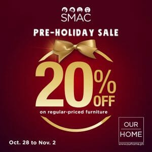 Our Home - Pre-Holiday Sale: Get 20% Off on Regular-Priced Furniture