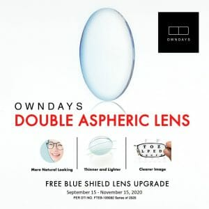 Owndays - FREE Blue Shield Lens Upgrade