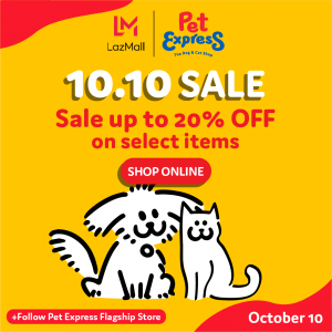 Pet Express - 10.10 Sale: Up to 20% Off on Select Items