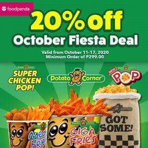 Potato Corner - Get 20% Off When You Order via FoodPanda