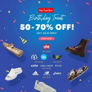 Res|Toe|Run - Birthday Treat: Get Up to 70% Off