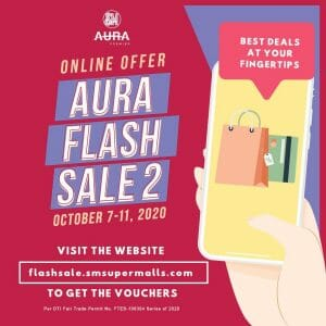 SM Aura Premier – Aura Flash Sale 2: Get Up to 75% Off and Buy 1, Take 1 on Everything