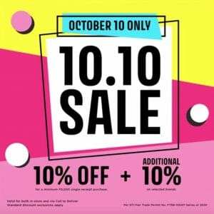 SM Aura Premier - 10.10 Sale: Get 10% Off + an Extra 10% on Select Brands