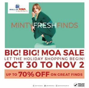 SM Mall of Asia - Big Big MOA Sale: Get Up to 70% Off on Select Items