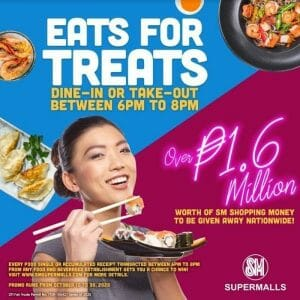 SM Mall of Asia - Eats for Treats: Get a Chance to Win Shopping Money