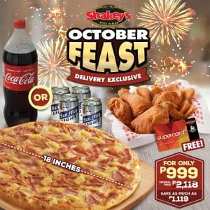 Shakey's - Get the October Feast for ₱999 (Was ₱2,118)
