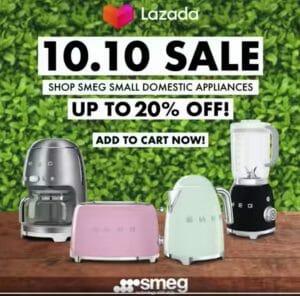 Smeg - 10.10 Sale: Up to 20% Off Small Domestic Appliances via Lazada