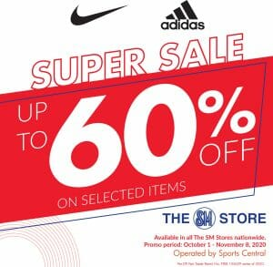 Sports Central - Super Sale: Up to 60% Off on Selected Nike and Adidas Items