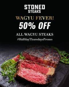 Stoned Steaks - 50% Off All Wagyu Steaks