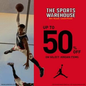 The Sports Warehouse - Get Up to 50% Off on Select Jordan Items