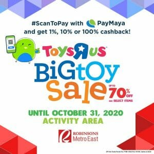 """Toys""""R""""Us - Big Toy Sale: Up to 70% Off on Select Items at Robinsons Metro East"""