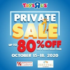 "Toys""R""Us - Private Sale: Up to 80% Off at Robinsons Galleria and Festival Mall"