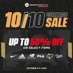 Urban Athletics - 10.10 Sale: Up to 50% Off on Select Items