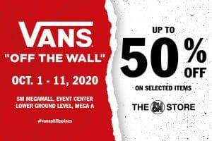 Vans - Live Sale at Megamall: Get UP to 50% OFF