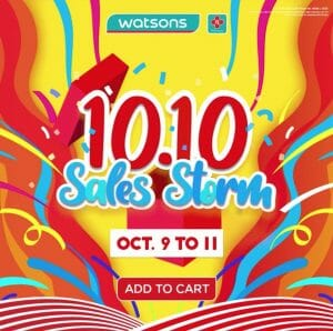 Watsons - 10.10 Sale: Up to 70% Off and Buy 1, Take 1 Offers