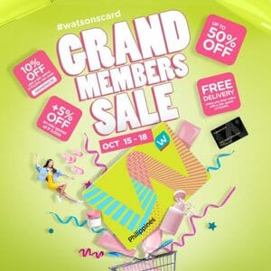 Watsons - Grand Members Sale: Get Up to 50% Off