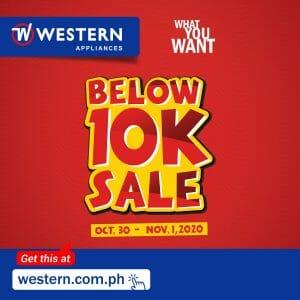 Western Appliances - Below ₱10K Sale