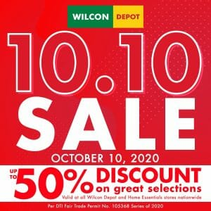 Wilcon Depot - 10.10 Sale: Up to 50% Off on Select Items