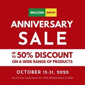 Wilcon Depot - Anniversary Sale: Up to 50% Discount
