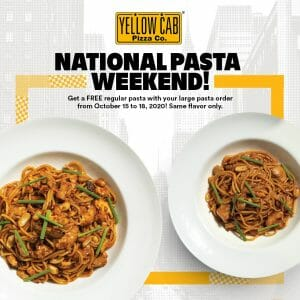 Yellow Cab Pizza - National Pasta Weekend: FREE Regular Pasta with a Large Pasta Order