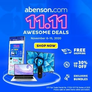 Abenson - 11.11 Deal: Get Up to 30% Off + FREE Shipping