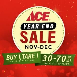 Ace Hardware - Year End Sale: Buy 1, Take 1 + Up to 70% Off