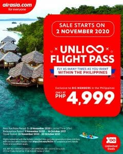 AirAsia - Unlimited Domestic Flights for a Year for ₱4,999