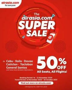 AirAsia - Super Sale: Get 50% Off on Domestic Flights