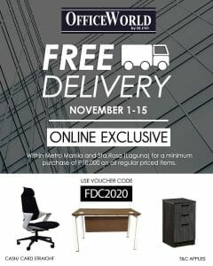 OfficeWorld - FREE Delivery With Minimum Online Purchase of ₱10,000 on Regular Priced Item