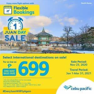 Cebu Pacific - Juan Day Sale: ₱699 One-Way Base Fare to Select International Destinations
